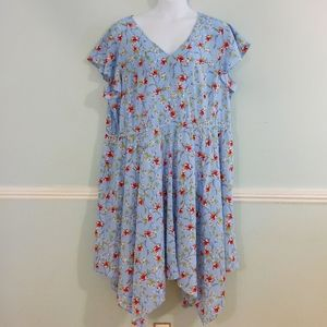 Light Blue Floral Lane Bryant Dress Plus Size 5x